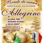 Concert de colinde la Crăciunelu de Jos cu grupul Allegrino, Alexia Trif, Răzvan Schiau şi Iulia Ignat