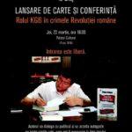 """Joi, 22 martie 2018: Jurnalistul și scriitorul Grigore Cartianu își lansează cărțile la Blaj, unde va vorbi despre """"Crimele Revoluției Române"""""""