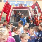 """Acţiune de informare preventivă în cadrul campaniei R.I.S.C. desfăşurată la Şcoala Gimnazială """"Toma Cocişiu"""" din Blaj"""