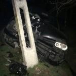 Minor din Jidvei, băut şi fără permis, cercetat penal după ce a provocat un accident rutier la Lunca Târnavei