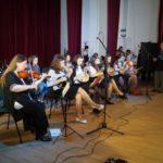 """Concert susținut de Grupul instrumental """"Crescendo"""" al Colegiului Național """"I.M. Clain"""" din Blaj, cu prilejul împlinirii a 90 de ani de la nașterea profesorului Aurel Cisteian"""