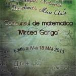 """Concursul de matematică """"Mircea Ganga"""" de la Blaj a ajuns la cea de-a IV-a ediţie"""