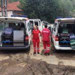 Ajutoare de primă necesitate acordate de Crucea Roșie Română pentru familiile afectate de inundaţii din comuna Şona