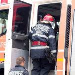 Intervenție a pompierilor militari din Blaj, pentru stingerea unui incendiu izbucnit într-un apartament situat pe strada Eroilor