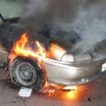 Intervenție a pompierilor militari din Blaj pentru stingerea unui incendiu izbucnit la un autoturism, pe DN 14B la Mănărade