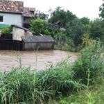 Ploaia torențială cazută astăzi în zona Municipiului Blaj a făcut prăpăd la Tiur