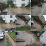 Mai multe gospodării din municipiul Blaj au fost inundate în urma unei ploi torențiale căzute în această seară