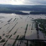 Zeci de hectare de teren agricol acoperite de ape, după ce Târnava Mică s-a revărsat la Cetatea de Baltă