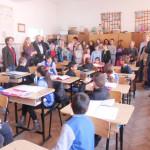 """Oaspeţi polonezi la Şcoala """"Toma Cocişiu"""" din Blaj"""
