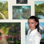 """La Muzeul de Istorie """"Augustin Bunea"""" din Blaj a avut loc vernisajul expoziţiei de pictură """"Începuturi"""" a micii pictoriţe Ioana Hebian"""