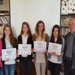 """Elevi de la Liceul Tehnologic """"Ștefan Manciulea"""" din Blaj au obținut premii la concursul """"Îngrijind natura, respectăm viața!"""", desfășurat la Oradea"""