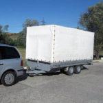 Dosar penal pentru un șofer de 25 de ani din Mihalț, după ce a fost prins în timp ce tracta cu un autoturism o remorca neînmatriculată pe DN 14B