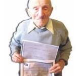 Veteranul de război Emil Ghibu, din Cenade, a pornit optimist spre un secol de viață
