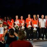 """Peste 2000 de fani prezenţi în Parcul """"Avram Iancu"""" la prezentarea lotului echipei Volei Alba-Blaj"""